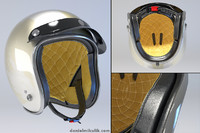 retro motorcycle helmet 3d model