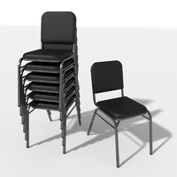 3d model of generic stacking chair