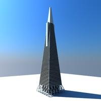 transamerica pyramid 3d model