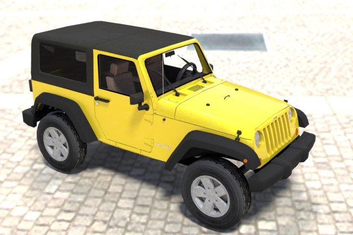 3d jeep wrangler