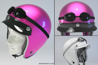 pink retro motorcycle helmet 3d model