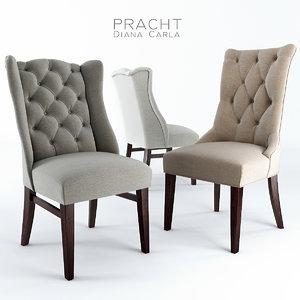 3d pracht dining chair carla