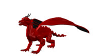 dragon mythical 3d lwo