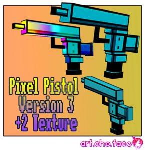 3ds max pistol pixel
