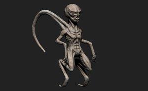 3d 3ds alien