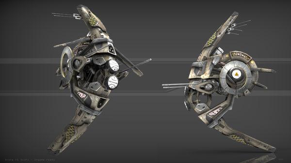 drone scifi 3d model