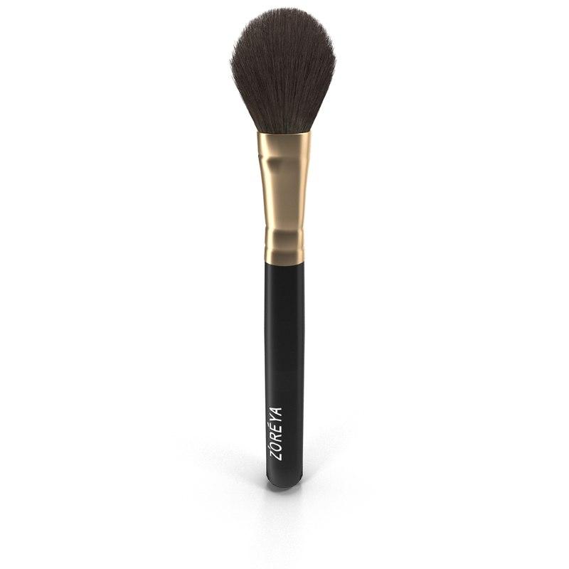brush makeup 3d max