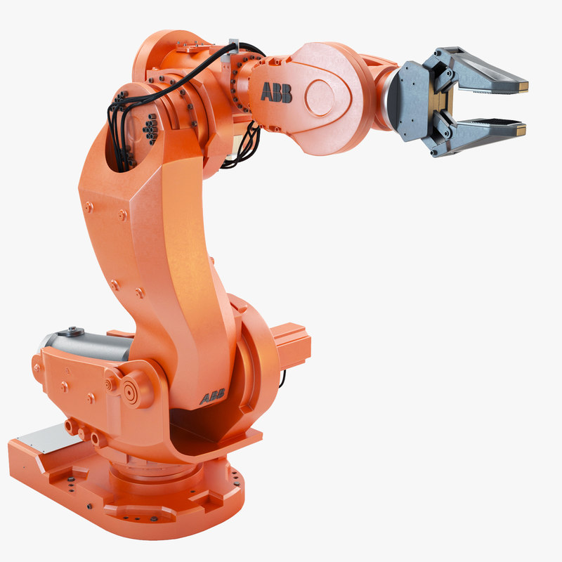 abb irb 7600 industrial robot 3d max