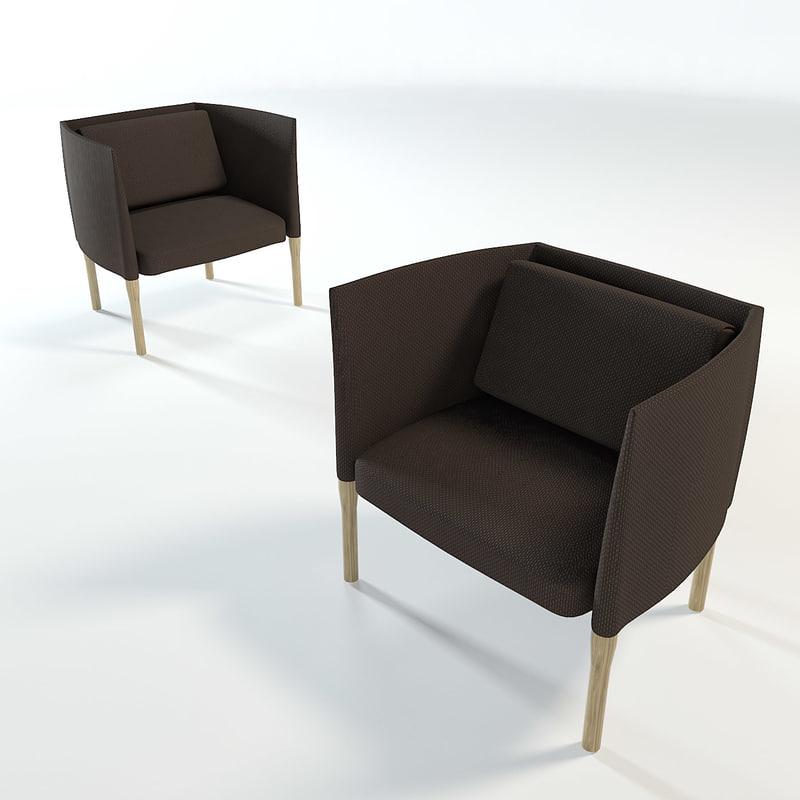 3d model elsie armchair paola lenti