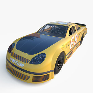 generic nascar car 3d obj
