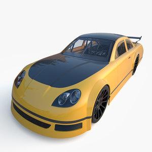 generic race car 3d max