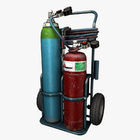 Oxygas Welding Trolley