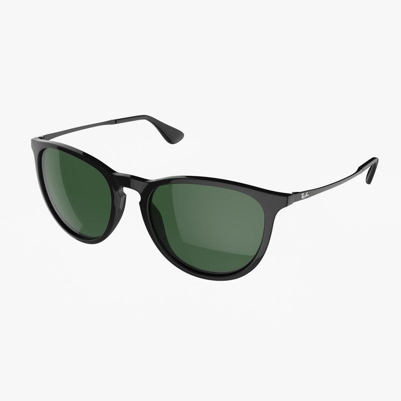 stylish rayban sunglasses 3d model