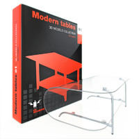 modern table 3d max
