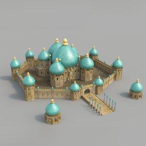 monumental palace bagdad 3d model