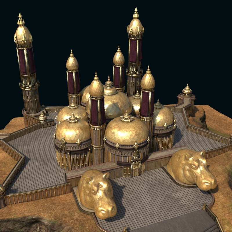 3d max monumental palace lost city