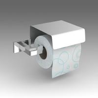 3d toilet paper holder model