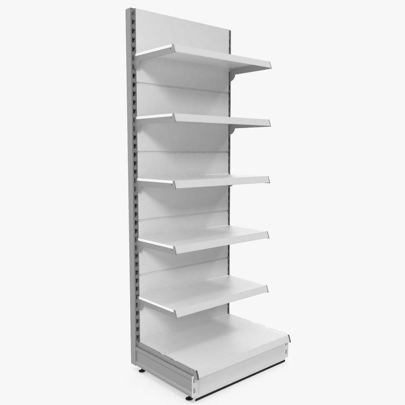 3d supermarket shelf model