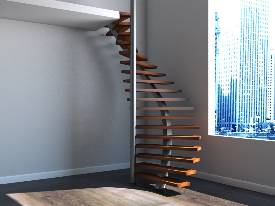 3d model spiral staircase stair