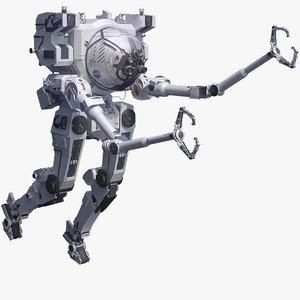 futuristic space robot nasa 3d obj