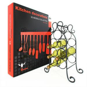 kitchen decoration 3d model
