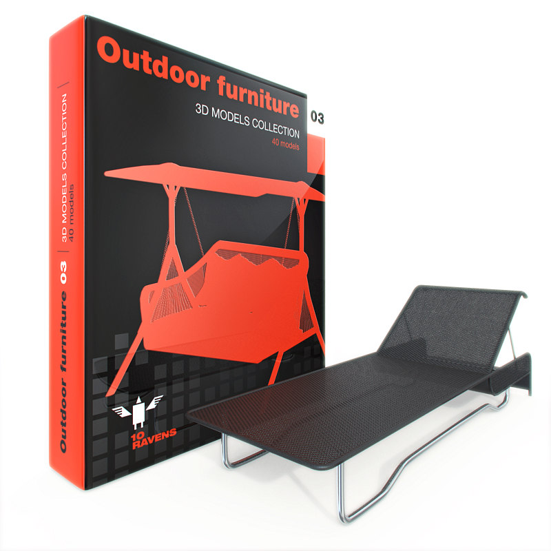 Outdoor 3d max for Outdoor furniture 3d max