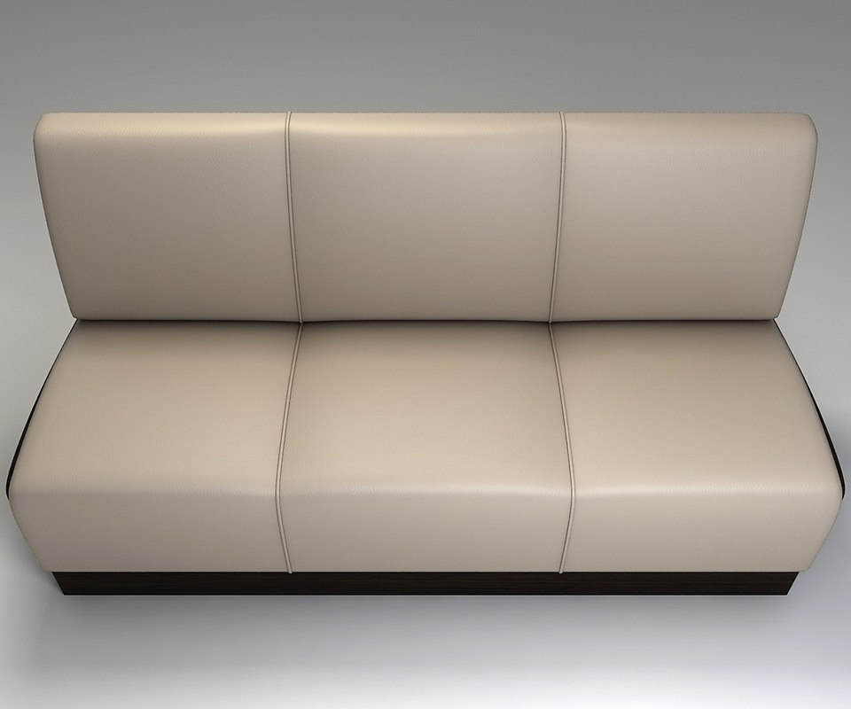 3d leather sofa restaurant model