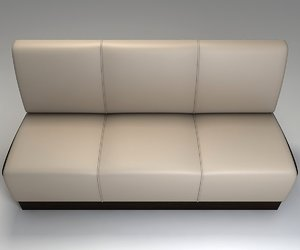 3d leather sofa restaurant model