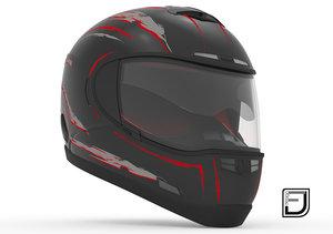 black helmet h10 3d obj