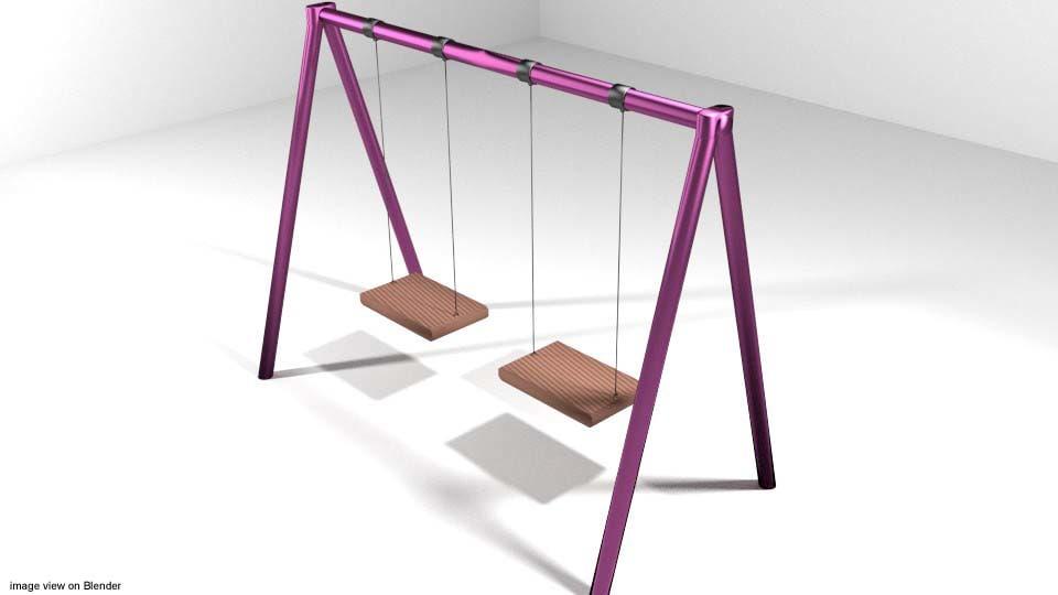 3d playground swing ground