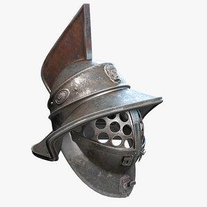 gladiator helmet 3d obj