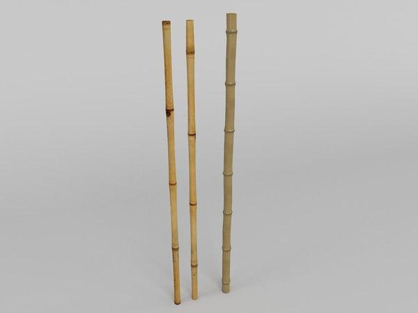 3d model bamboo bambo