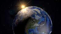 planet earth c4d