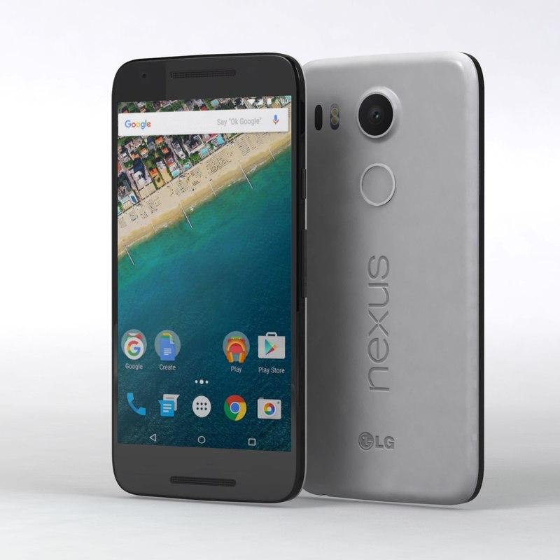 3d google nexus 5x model
