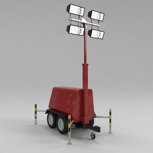 3d model tower light generator