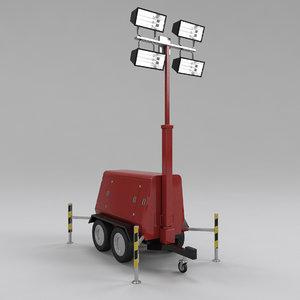 3d model tower light generator
