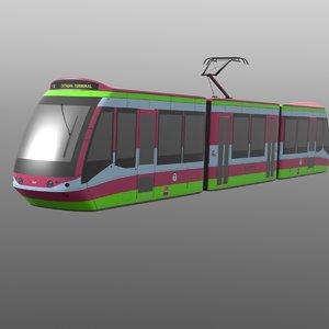 futuristic tramway 3d model