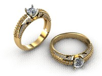 3d model of engagement ring