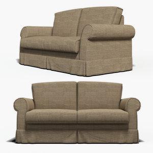 3d model of photorealistic sofa
