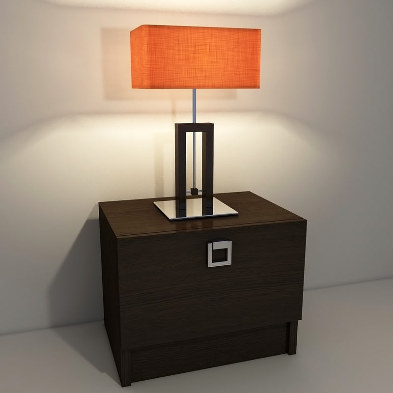 3d contemporary table lamp model