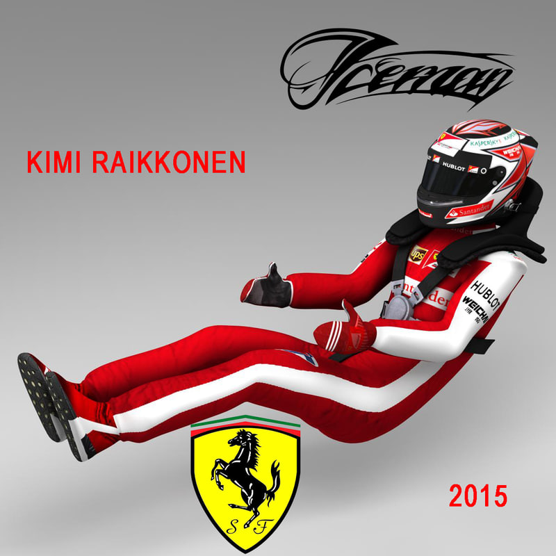 kimi raikkonen 2015 1 3d model