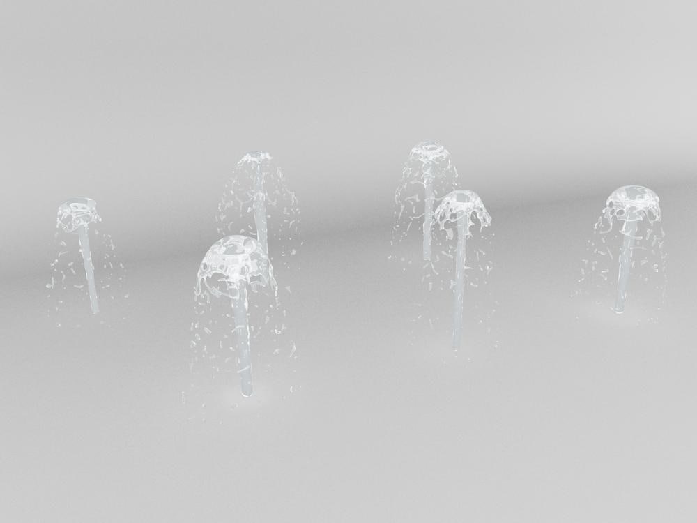 water spray 3d obj