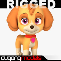 Rigged Cartoon Dog 02