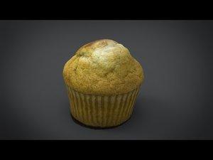 3d real cupcake model