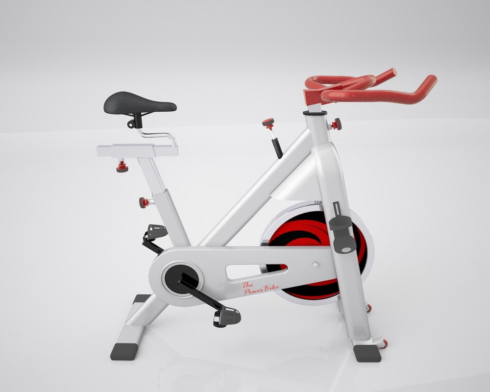 stationary bike spinning 3d c4d