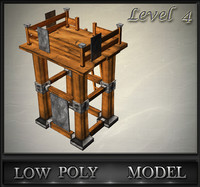 wood tower lvl 4 3d model