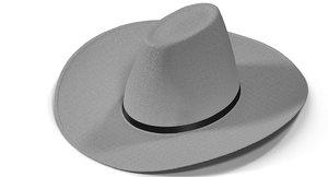 3d model of white hat