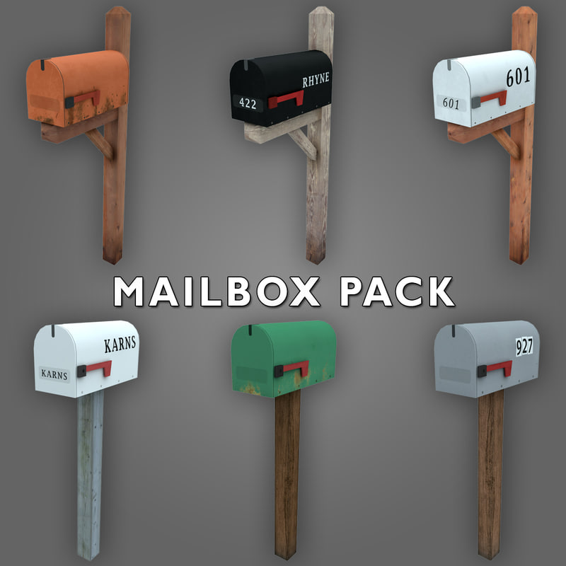 low-poly mailbox max