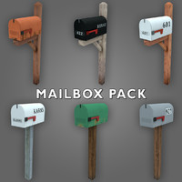 Low-poly Mailbox Pack