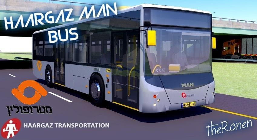 man a69 bus haargaz 3d 3ds